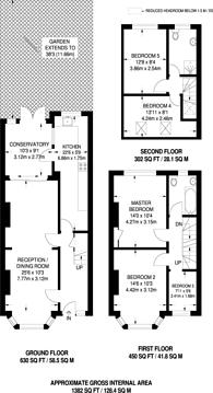Large floorplan for Howberry Road, Thornton Heath, CR7