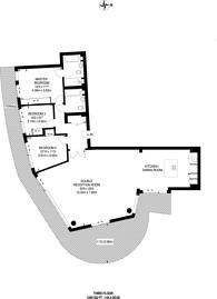 Large floorplan for Kew Bridge Road, Brentford, TW8
