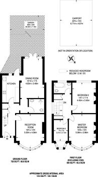 Large floorplan for Burleigh Gardens, Southgate, N14
