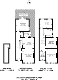 Large floorplan for Park Avenue South, Crouch End, N8