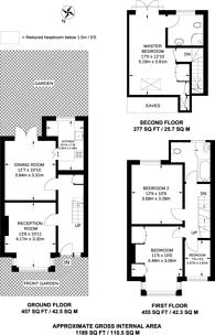 Large floorplan for Weihurst Gardens, Sutton, SM1
