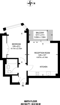 Large floorplan for Altyre Road, East Croydon, CR0