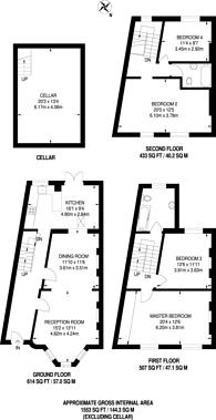 Large floorplan for Amhurst Road, Stoke Newington, N16