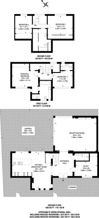 Large floorplan for Park Avenue, Golders Green, NW11
