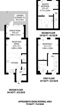 Large floorplan for Argyle Place, Hammersmith, W6