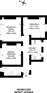 Large floorplan for Coldharbour Lane, Brixton, SW9