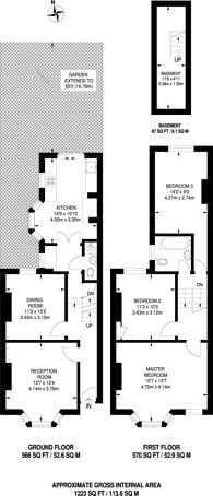 Large floorplan for Woolwich Road, Charlton, SE7