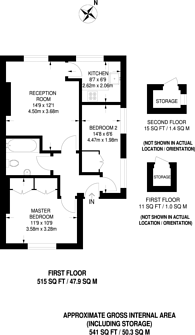 Large floorplan for Russell Gardens, Olympia, W14