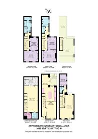 Large floorplan for Ansdell Terrace, High Street Kensington, W8