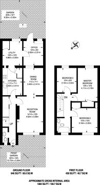 Large floorplan for Norwood Road, Brockwell Park, SE24