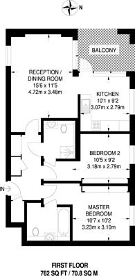 Large floorplan for St Bernards Gate, Ealing, UB1