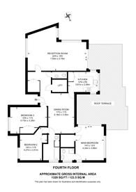 Large floorplan for Eldon Grove, Hampstead, NW3
