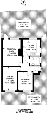 Large floorplan for Chester Close, Sutton Common, SM1