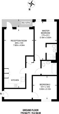 Large floorplan for Lighterage Court, Brentford, TW8