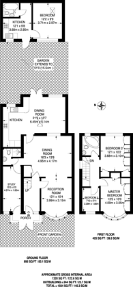 Large floorplan for Kenton Lane, Kenton, HA3