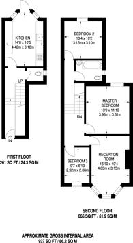 Large floorplan for Alconbury Road, Stoke Newington, E5