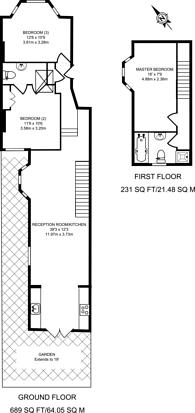Large floorplan for Hubert Grove, Clapham North, SW9
