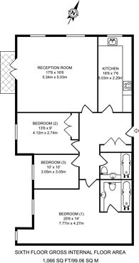 Large floorplan for Chantry Square, Kensington, W8