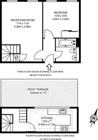Large floorplan for Roseberry Avenue, Clerkenwell, EC1R