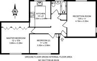 Large floorplan for Highbury Grove, Highbury, N5