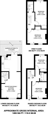 Large floorplan for Liverpool Road, Islington, N1