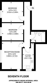 Large floorplan for Clifton Road, Canonbury, N1
