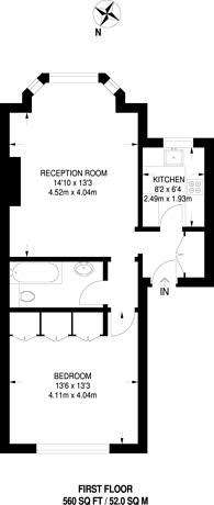 Large floorplan for Pembridge Villas, Notting Hill Gate, W11