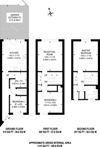 Large floorplan for Tulse Hill, Tulse Hill, SW2