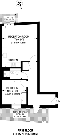 Large floorplan for Chiltonian Mews, Hither Green, SE13