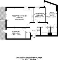 Large floorplan for Dalston Square, Hackney, E8