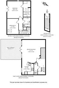 Large floorplan for Bedford Road, Clapham North, SW4