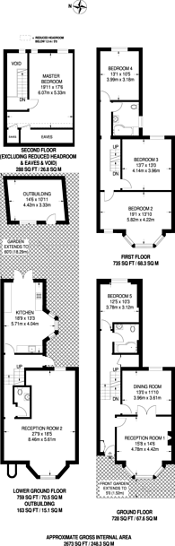 Large floorplan for Wightman Road, Harringay, N4