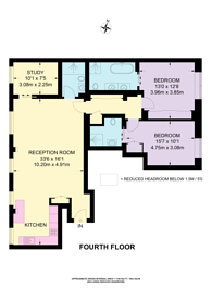 Large floorplan for Essex Street, Holborn, WC2R