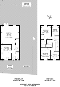 Large floorplan for Brookwood Farm Drive, Knaphill, GU21