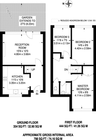 Large floorplan for Hanbury Street, Spitalfields, E1