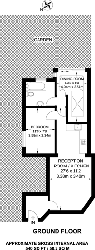Large floorplan for Somerton Road, Cricklewood, NW2
