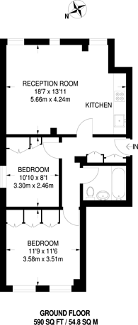 Large floorplan for High Street, Feltham, TW13