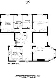 Large floorplan for Manor Fields, Putney, SW15