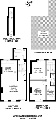 Large floorplan for Rockmount Road, Crystal Palace, SE19