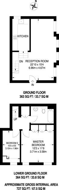 Large floorplan for The Ridgeway, The Ridgeway, EN2