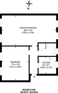 Large floorplan for Queensbridge Road, Hackney, E2
