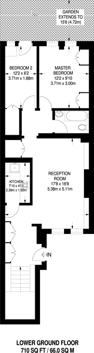 Large floorplan for Comeragh Road, Fulham, W14