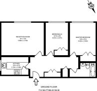 Large floorplan for Denmark Road, Wimbledon, SW19