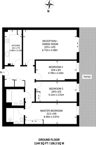 Large floorplan for Montaigne Close, Westminster, SW1P