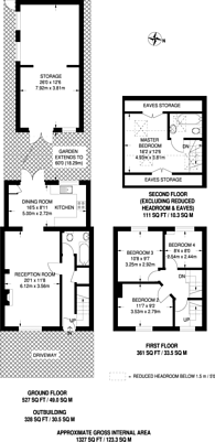 Large floorplan for Harp Road, Ealing, W7