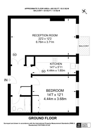 Large floorplan for Pembroke Road, Kensington, W8