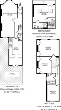Large floorplan for Averill Street, Barons Court, W6