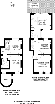 Large floorplan for Commercial Road, Limehouse, E14