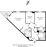 Large floorplan for Millicent Grove, Palmers Green, N13