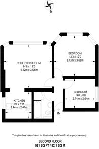 Large floorplan for Claremont Gardens, Surbiton, KT6